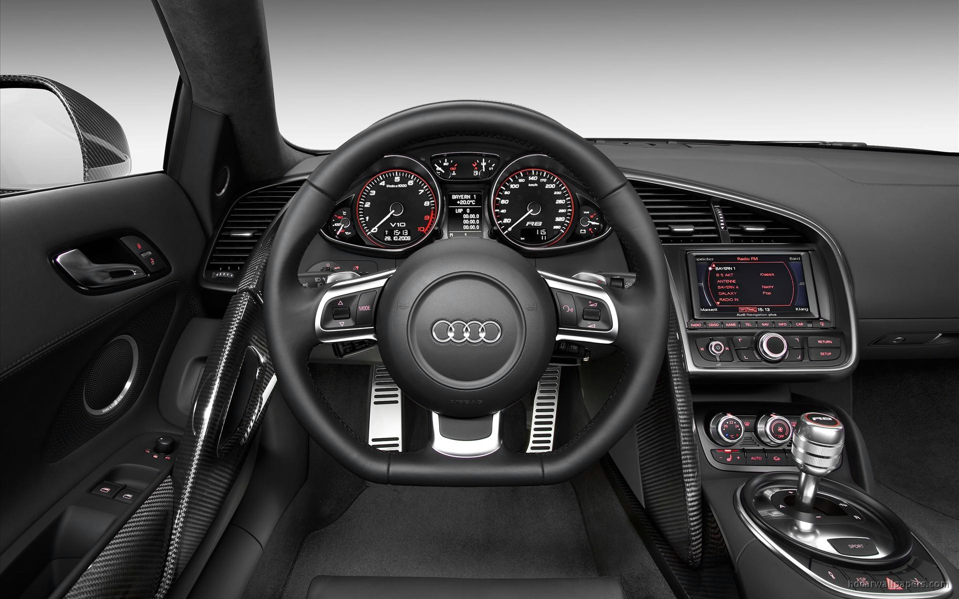 Audi R8 v10 Interior Wallpaper  HD Car Wallpapers  ID 165