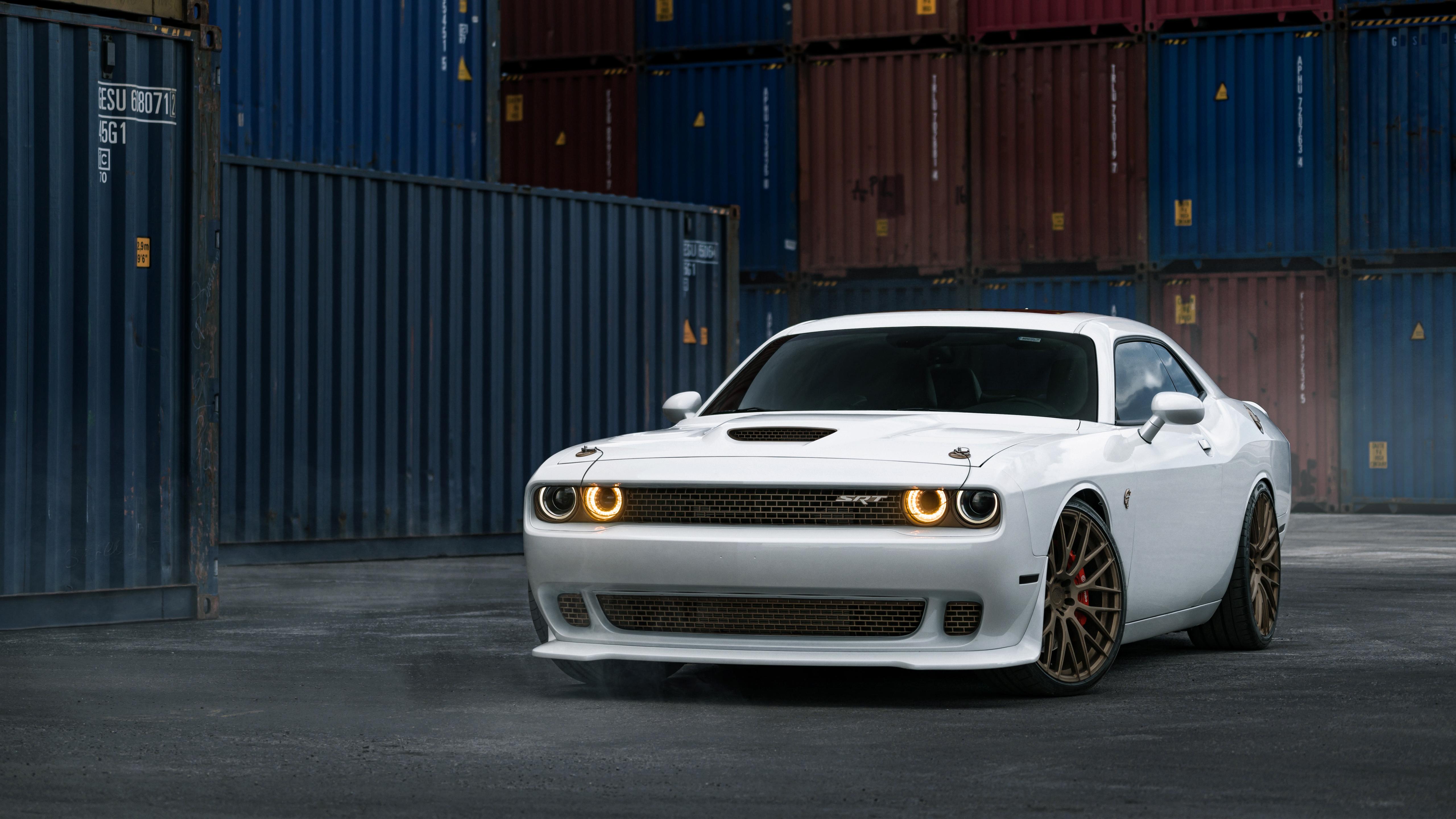 Dodge Challenger Srt Hellcat White Wallpaper Hd Car Wallpapers