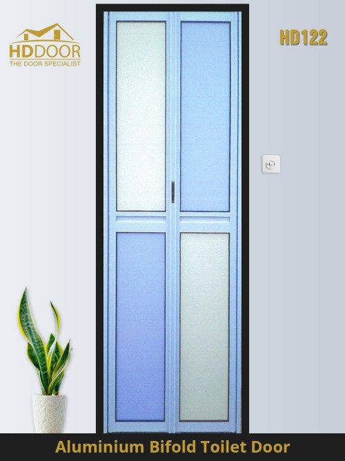 HD122 toilet fold door