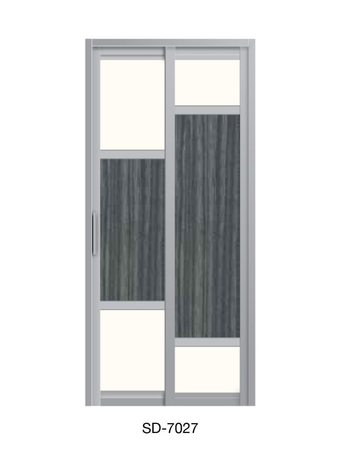 PVC Slide & Swing Toilet Door SD-7027