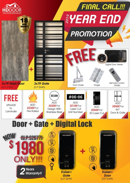Door Gate Kaiser+ Diigtallock Bundle Promotion