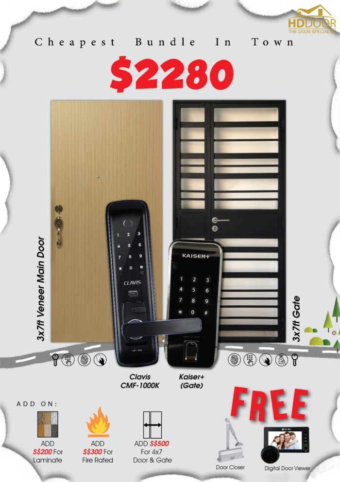 Clavis Cheap Digital Lock Door Gate Bundle Promotion Sale 2020