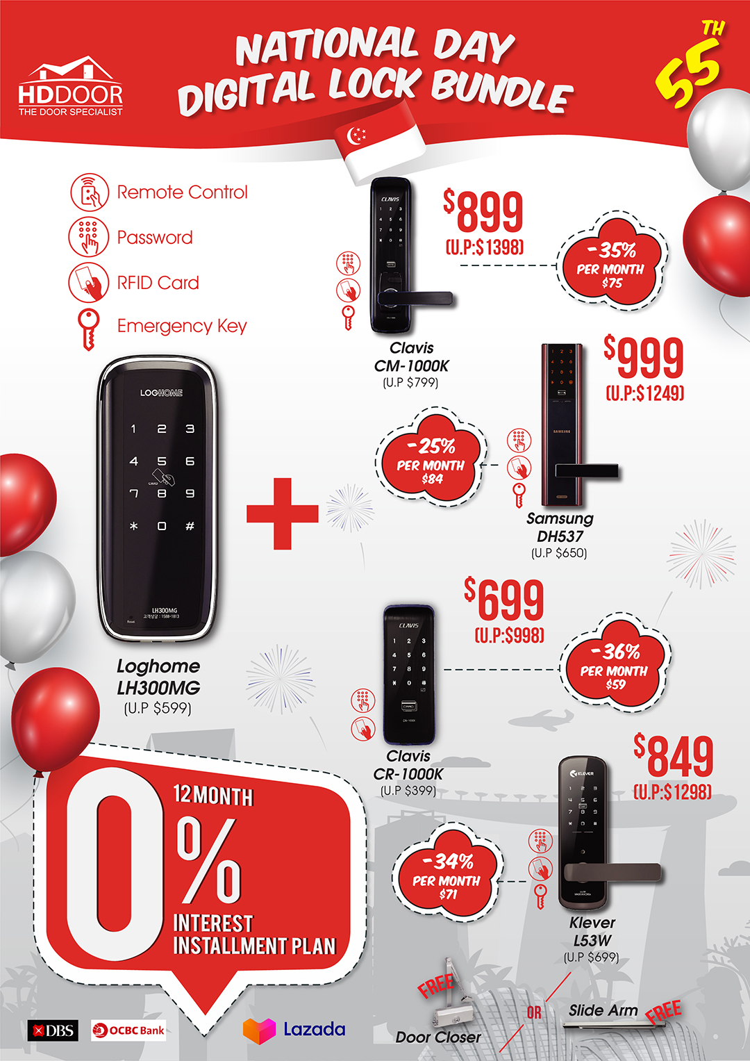 55th national day digitallock bundle promotion sale 2020