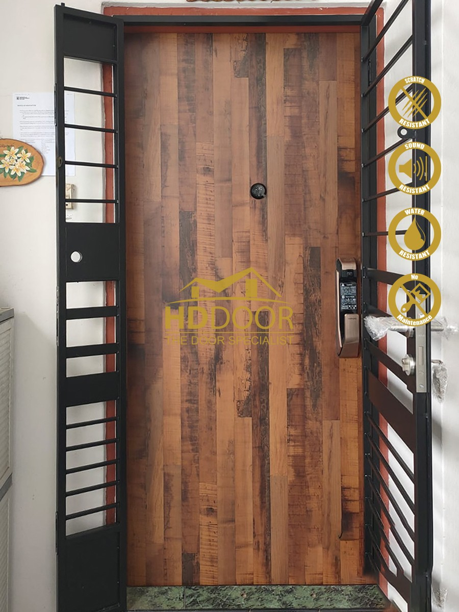 HDB Laminate Non Fire-rated Main Door