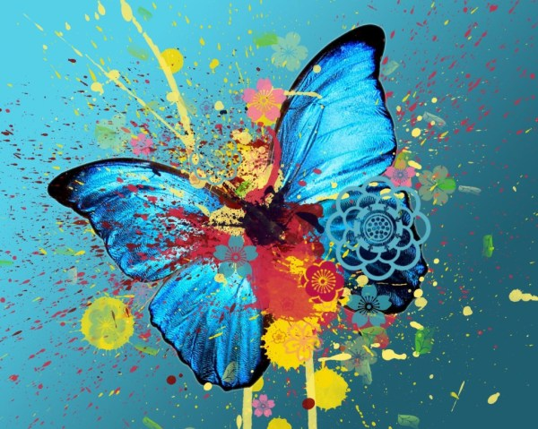 Colorful Abstract Butterfly Art