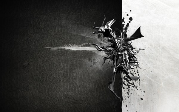 Contemporary Black And White Abstract Painting #6734 Hd Wallpapers Background