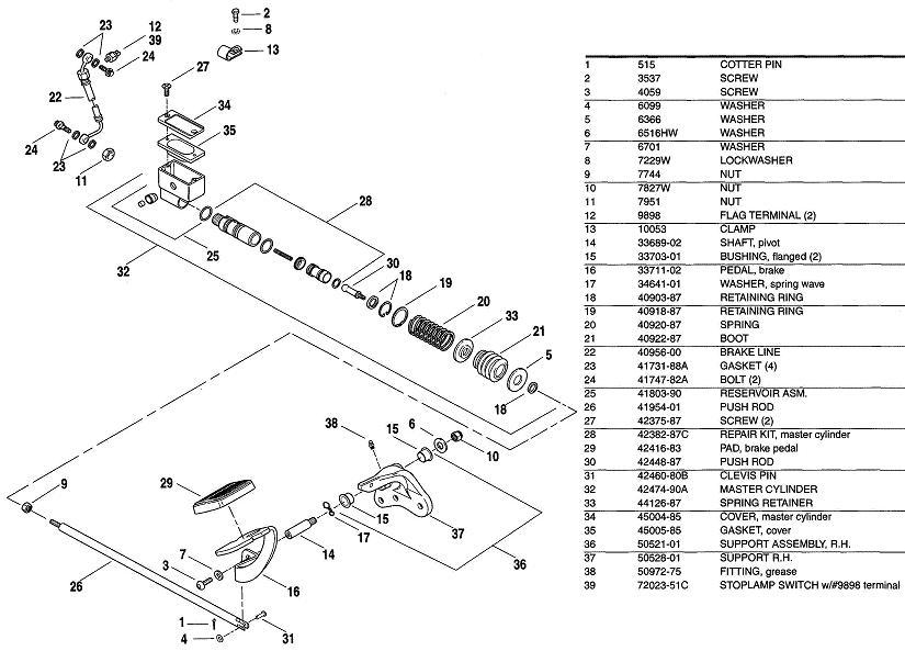 Harley Davidson Wide Glide Parts Diagram