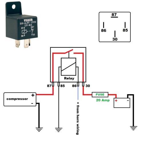 small resolution of air horn installation diagram simple wiring diagram rh 40 mara cujas de air horn relay wiring