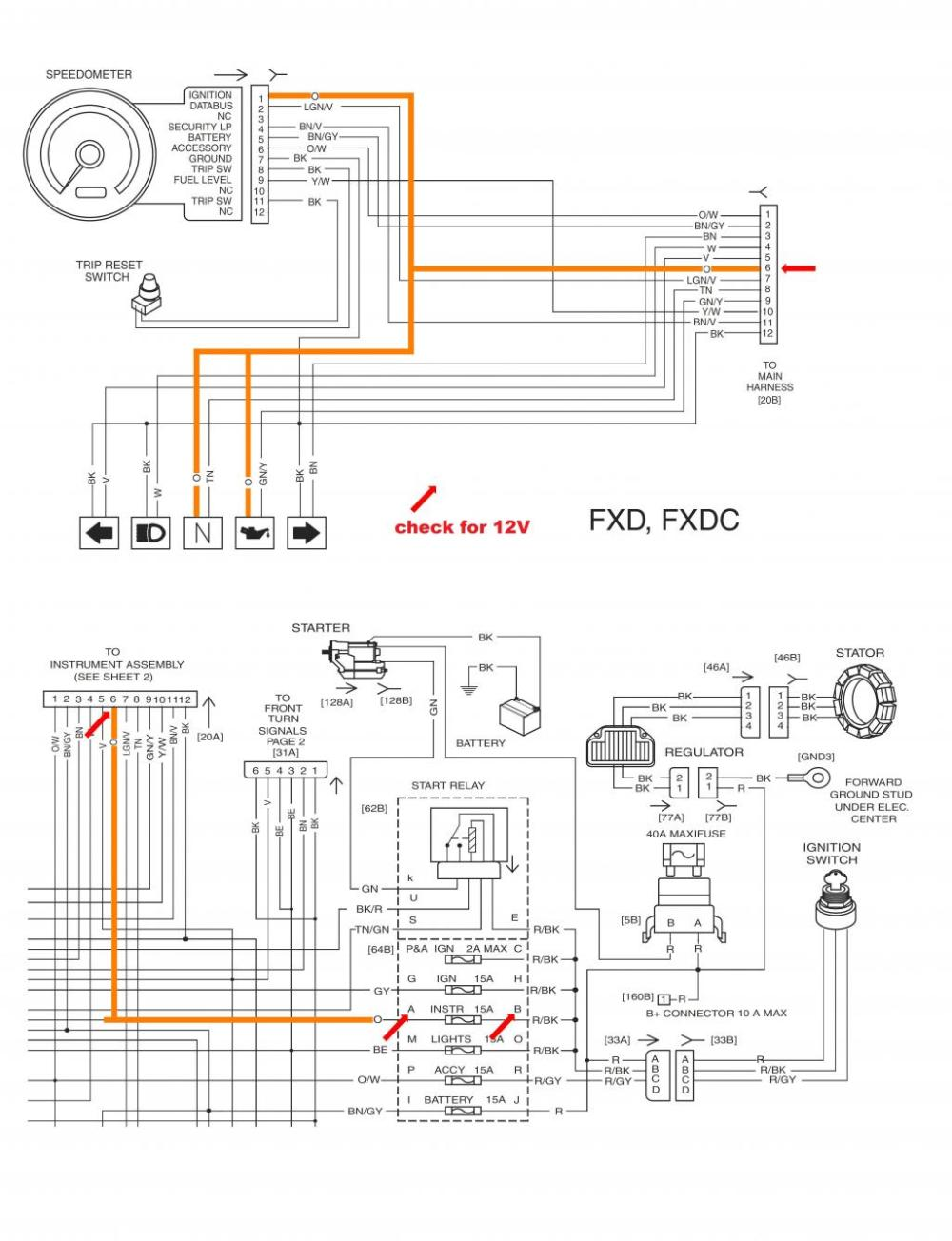 medium resolution of 1998 harley dyna wide glide starter wiring diagram