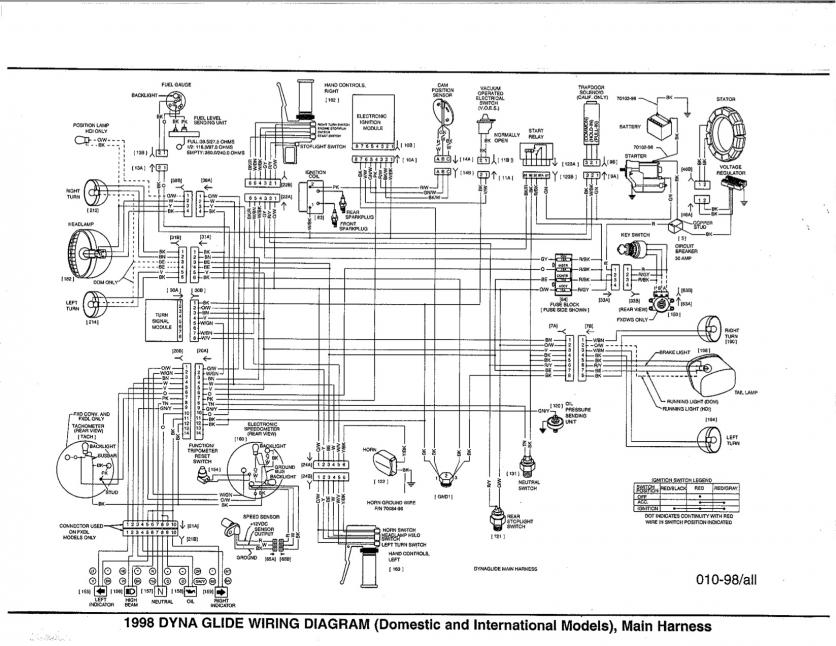 wiring diagram for 2000 softail