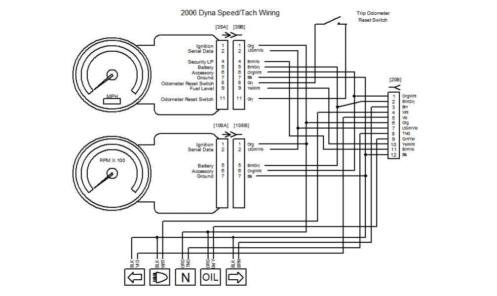harley tach wiring diagram