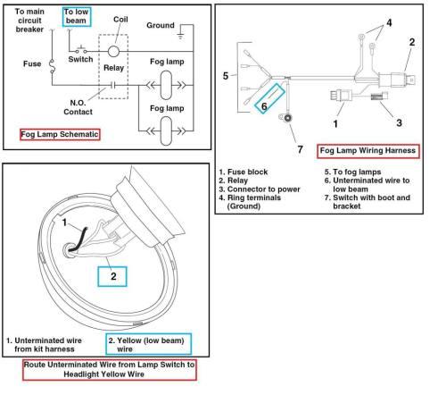 Harley Fog Lights Wiring Diagram - Wiring Diagrams List on