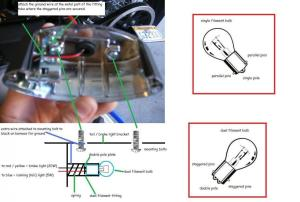 need help wiring tail light  Harley Davidson Forums