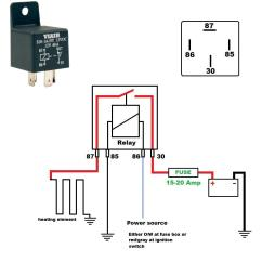 4 Pin Relay Wiring Diagram Horn House Electrical South Africa Help With Ignition Switch For Seat Heater Harley