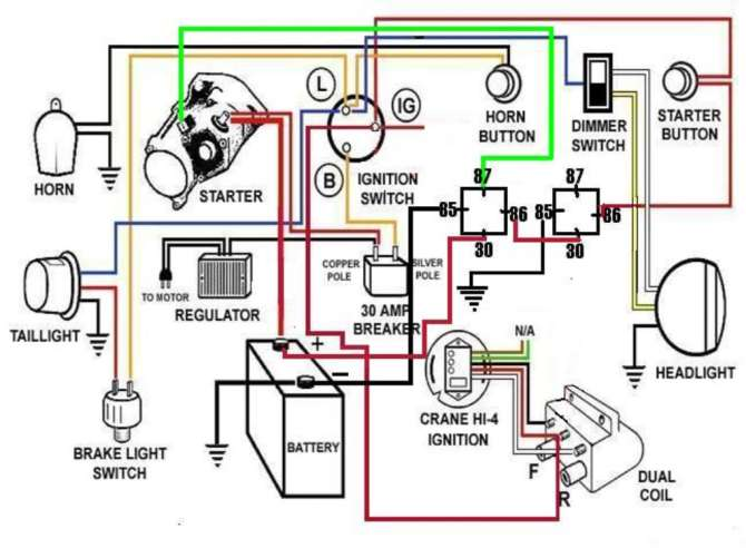 harley davidson battery wiring diagram  mitsubishi shogun