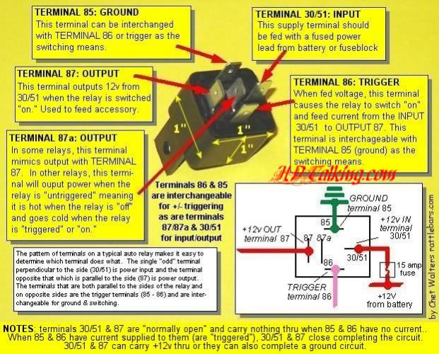 relay wiring diagram 87a