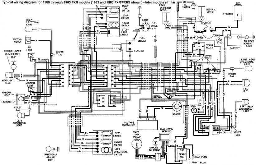 1984 Ironhead Sportster Wiring Diagram 1984 Ironhead