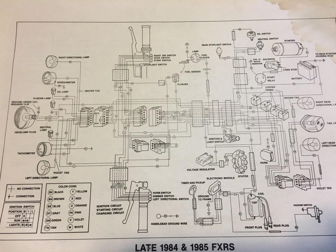 1985 harley davidson fxst wiring diagram image 8