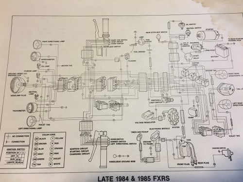 small resolution of wiring harness for 1985 fxrs wiring diagram inside 1985 harley fxr wiring harness