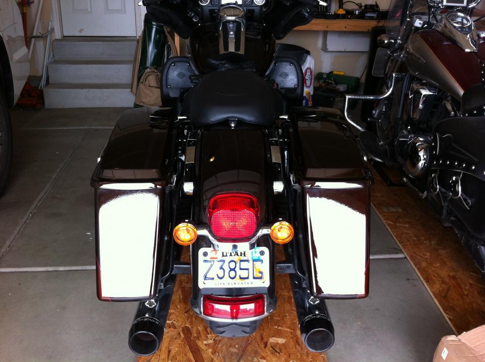 License plate mountframe for FLHTK  Harley Davidson Forums