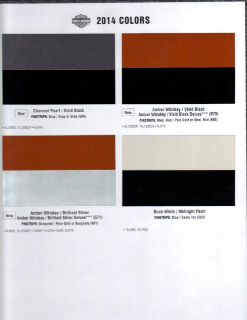 small resolution of 08 harley davidson color chart