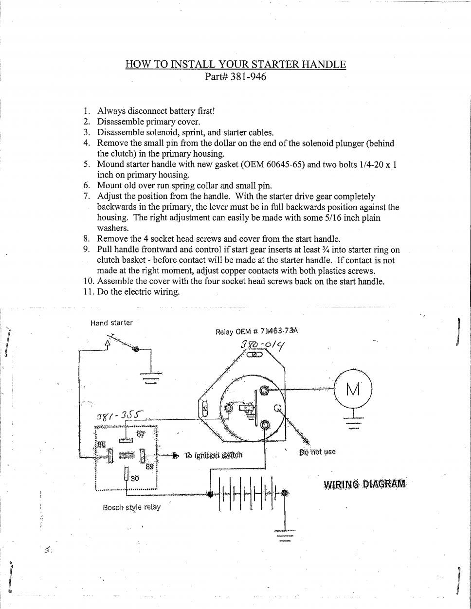 hight resolution of  manual starter lever 381 946 jpg