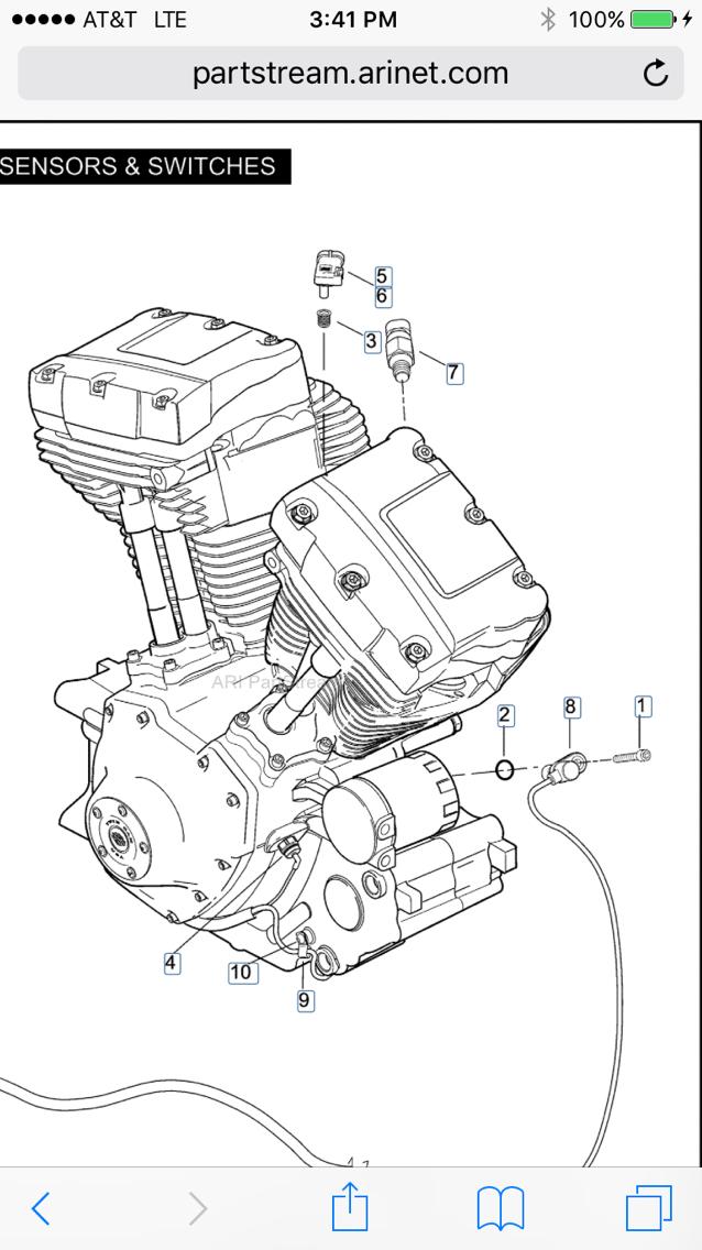 Harley Sportster Engine Temperature Sensor