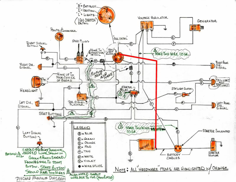 hand drawn wiring diagram for xlch - harley davidson forums