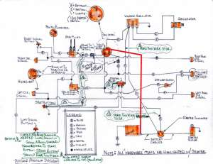 Hand drawn wiring diagram for XLCH  Harley Davidson Forums