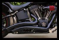 *Black* Vance & Hines Big Radius Pipes/Exhaust for ...
