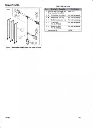 Daymaker Reflector LED Fog Lamps & Wiring Harness  Harley