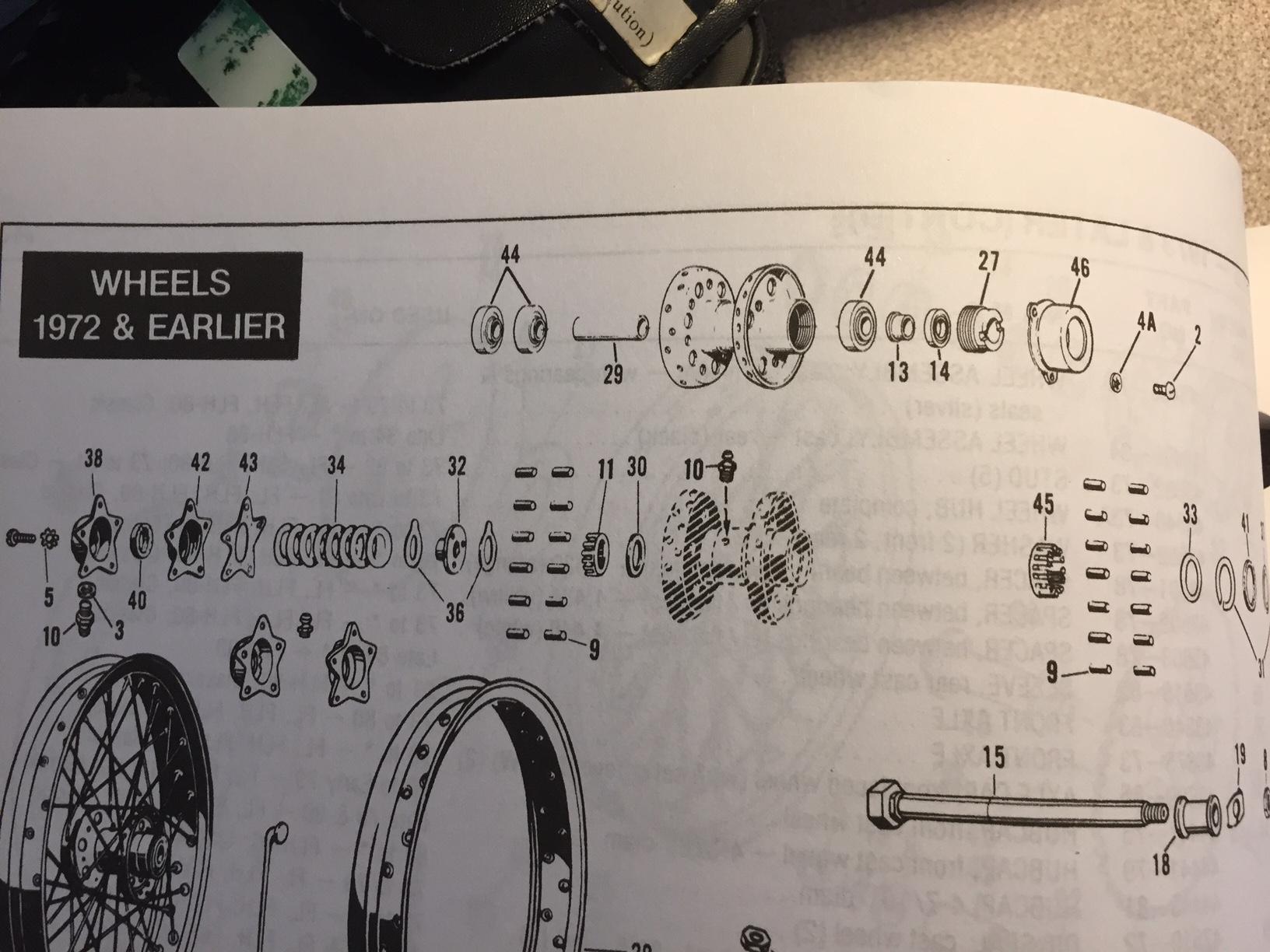 hight resolution of 1972 flh rear wheel bearing spacer wheel bearing diagram jpg