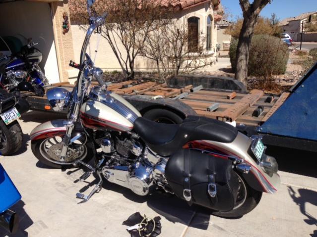 Harley Softail Chrome Whisker Highway Bars 09