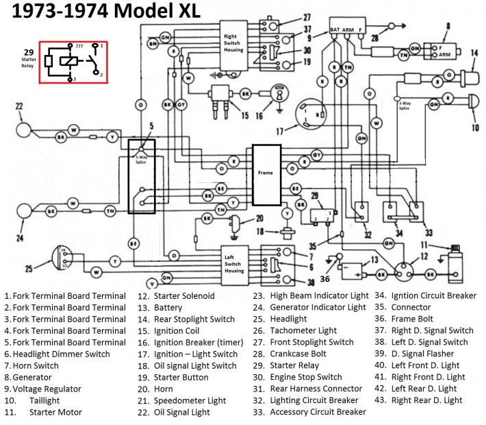 Harley 6 Volt Wiring Diagram. Sealed Beam Wiring Diagram