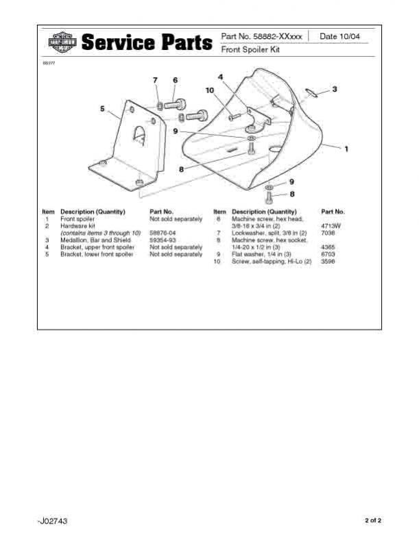 Xl883(xx) xl1200(xx) sportster front spoiler(chin fairing