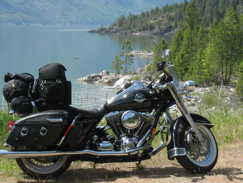 folding bag chair covers rental calgary pics of your bike loaded up for camping - page 3 harley davidson forums