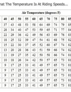 Wind chill factor chart img  also harley davidson forums rh hdforums