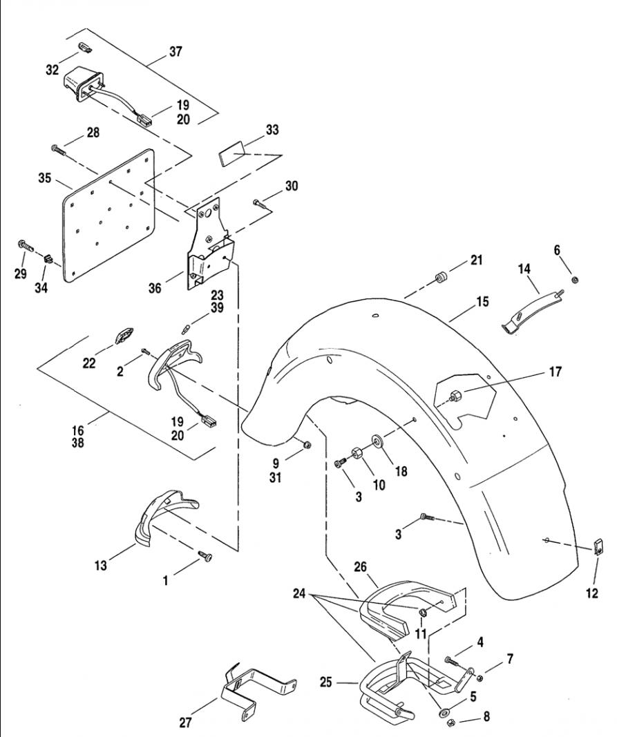 Road king solo seat bracket part 14