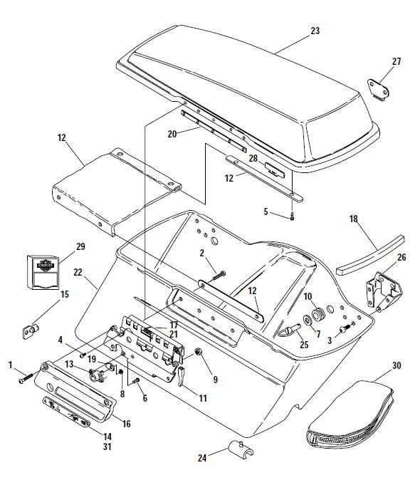 installation instructions for hard saddlebag hardware