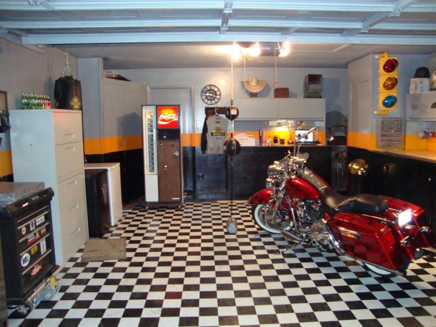 Took some time to Redo my Garage  Harley Davidson Forums
