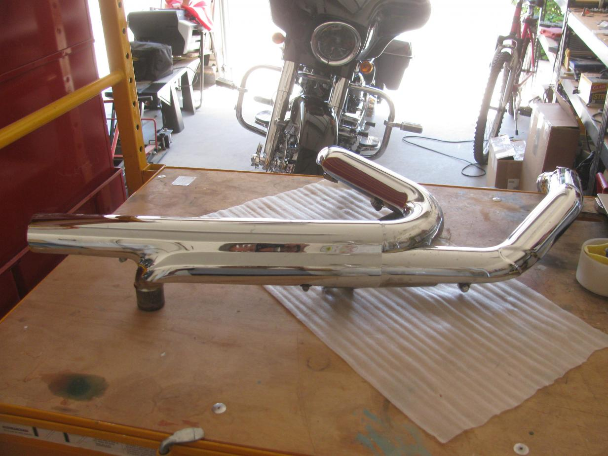 2014 street glide exhaust and fork tins