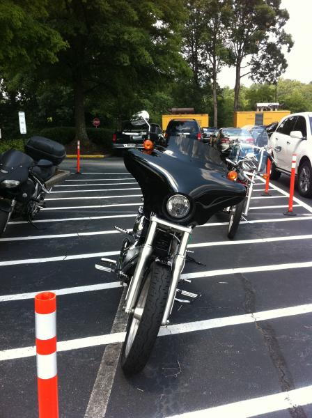 Dyna Super Glide with Memphis Shade Batwing Fairing  Harley Davidson Forums