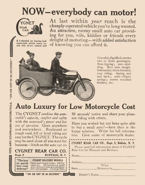 Cygnet Rear Car Print Ad