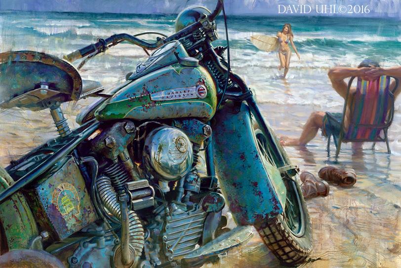 David Uhl S Commemorative Daytona Paintings Harley