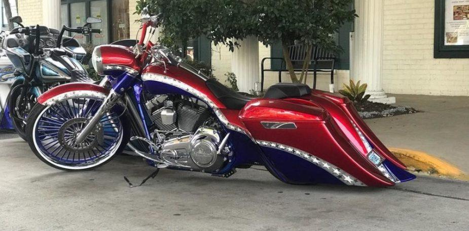 Stars and Stripes Harley Custom