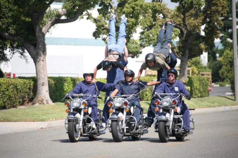 The Victor McLaglen Motor Corps stunts