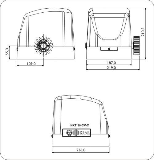 Motor NXT-C 1/4CV 127V c/ Central 1F NXT, 2 Rádios e