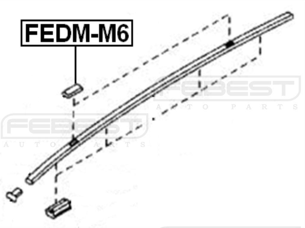 Zaślepka listwy dachu MAZDA [O-FEDM-M6] GJ6A-50-5A1