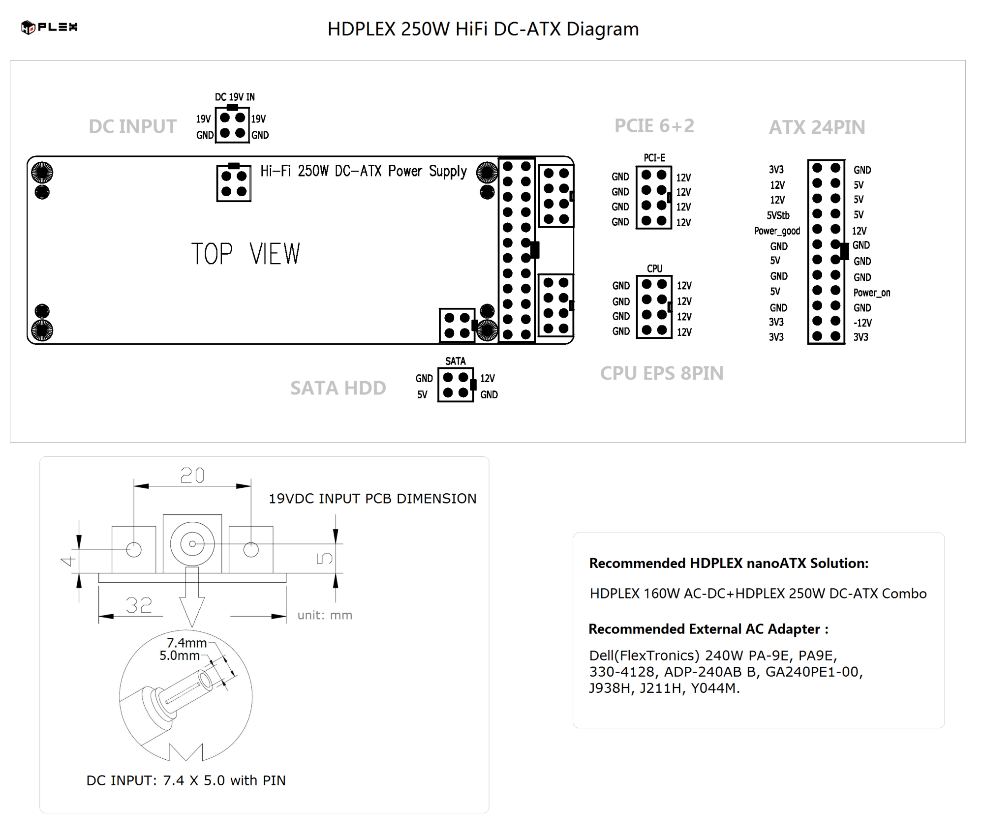 hight resolution of hdplex 250w hifi dc atx diagram discontinued