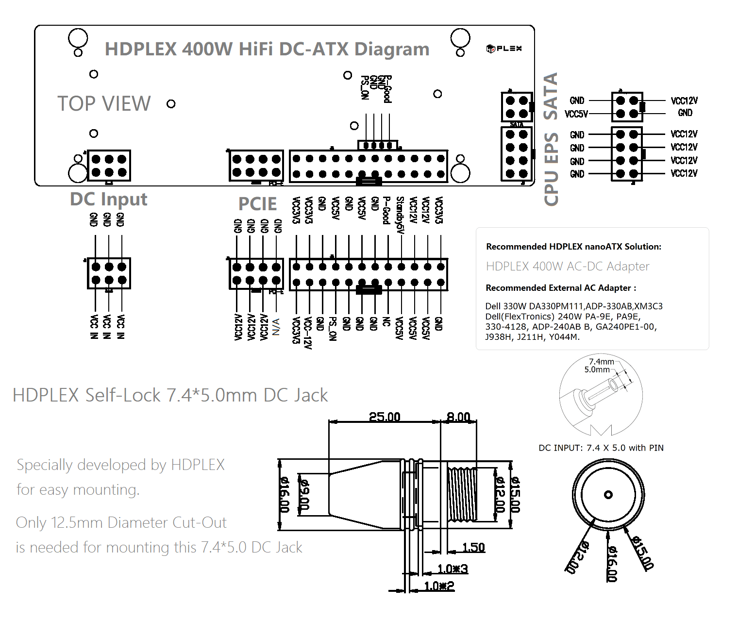 hight resolution of hdplex 300w hifi dc atx diagram discontinued